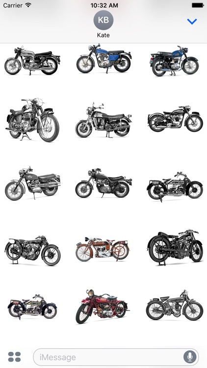 Classic Motorcycle Stickers screenshot-1
