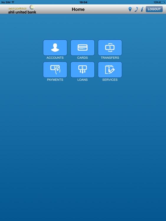 AUB M-Bank Bahrain for iPad screenshot-3
