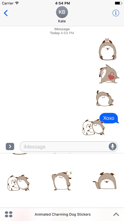 Animated Charming Dog Stickers For iMessage screenshot-4