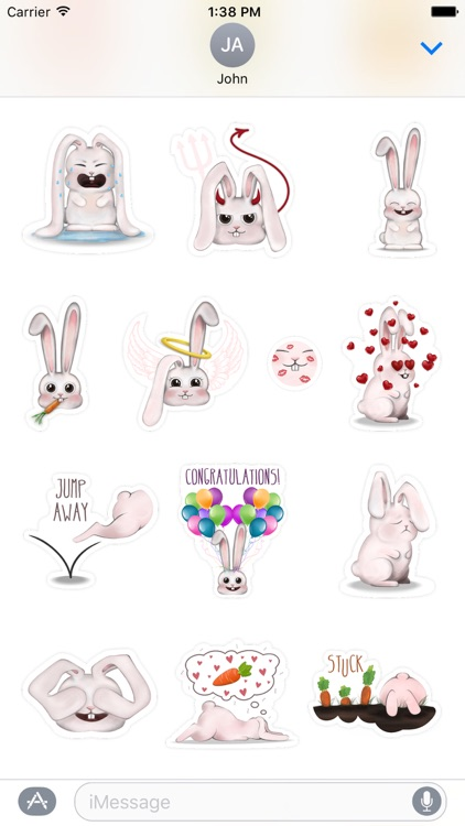 Funny Bunny - Handcrafted Stickers screenshot-3