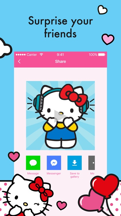 Hello Kitty StoryGIF: Valentines GIF & Story Maker screenshot-3