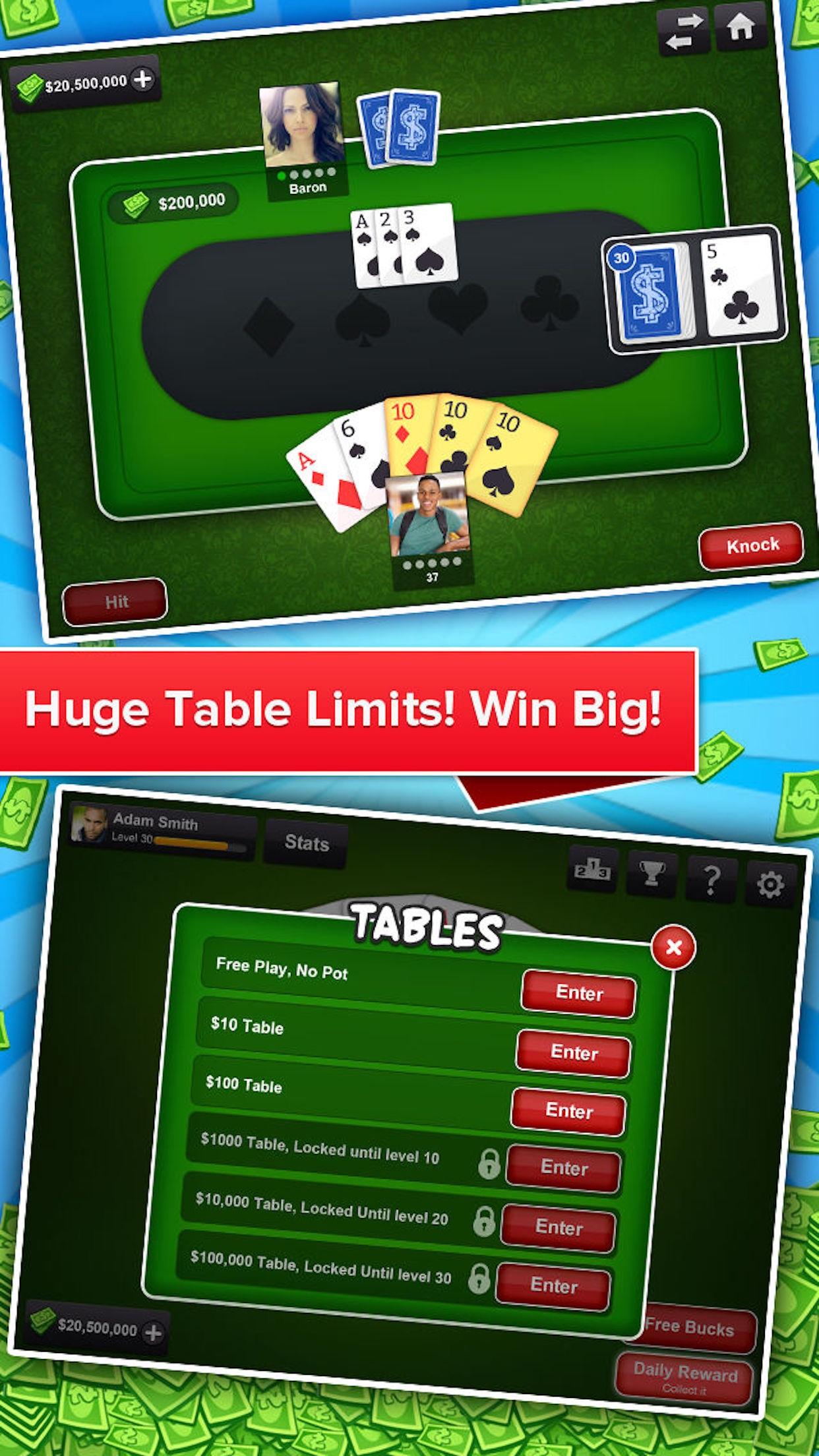 Tonk Multiplayer Card Game (Tunk Classic) Free Screenshot