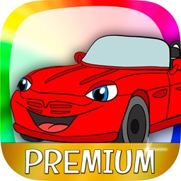 Cars coloring book for kids & paint drawings – Pro