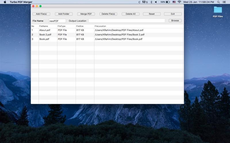 Turbo PDF Merger Screenshot - 3