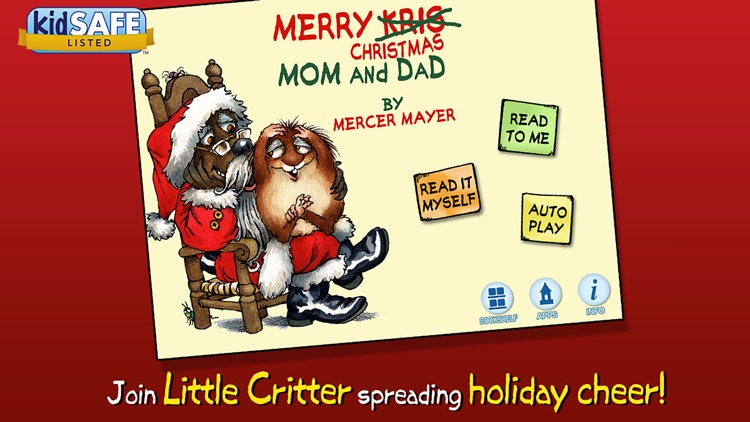 Merry Christmas Mom and Dad - Little Critter screenshot-0