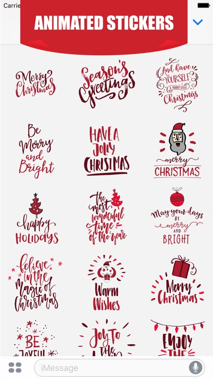 Animated Christmas Greetings for iMessage Stickers screenshot-1