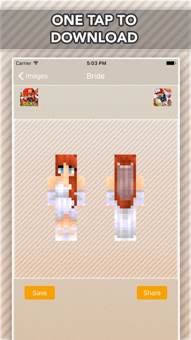 Wedding, Bride and Groom Skins For Minecraft PE-2