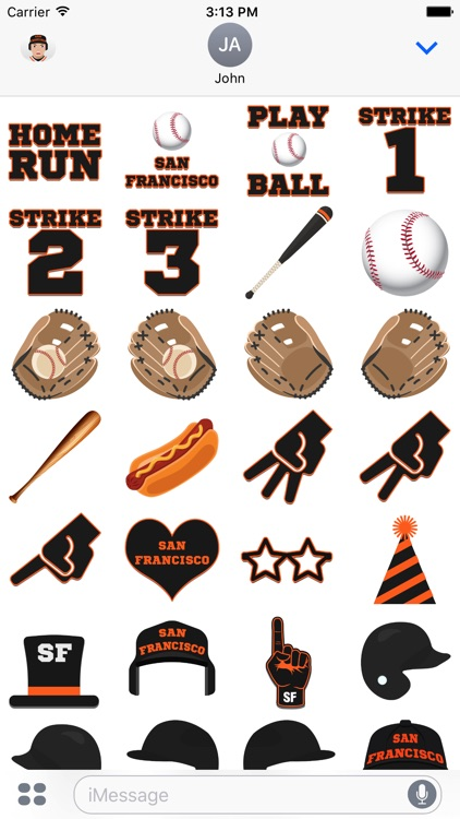 San Francisco Baseball Stickers & Emojis screenshot-3