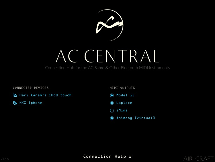 AC Central: Bluetooth MIDI & AC Sabre Auto-Connect