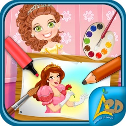 Princess Love Story - Kids Coloring Book Game 2017