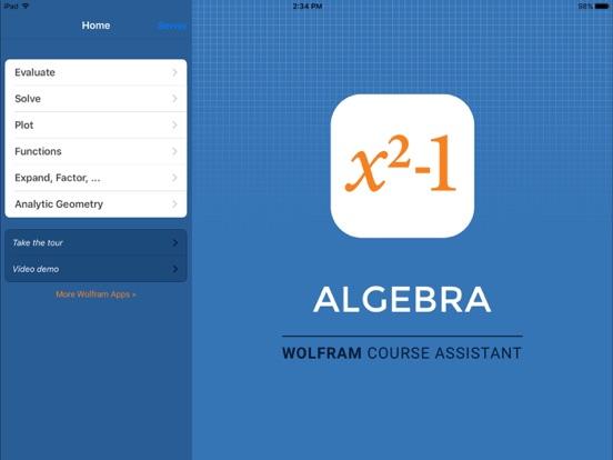 Wolfram Algebra Course Assistant screenshot
