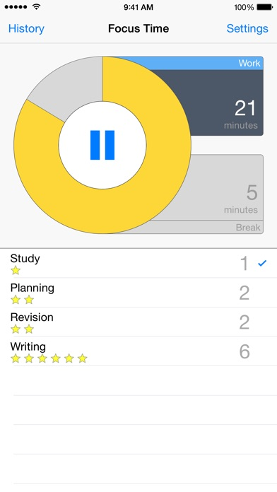 Screenshot #6 for Focus Time Activity Tracker