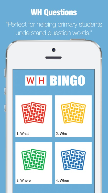WH Questions - Bingo App screenshot-0