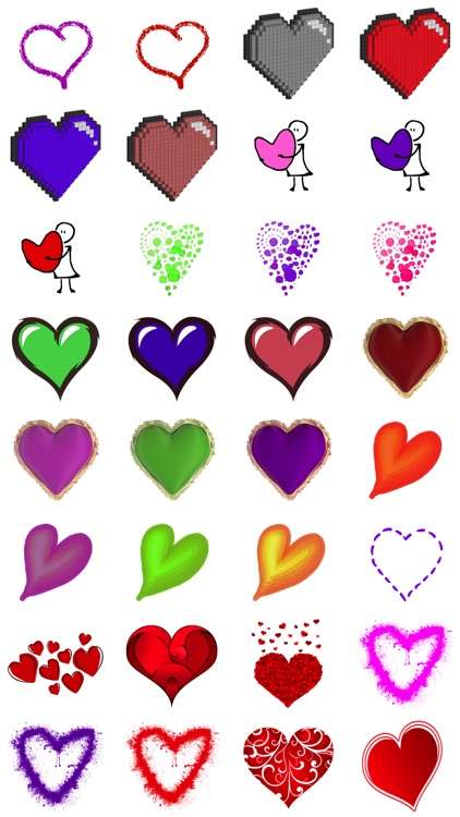 Artful Hearts: Artsy Heart Stickers screenshot-2