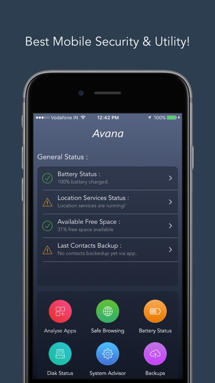 Avana : App Analyzer, Safe Browser & Disk Manager!