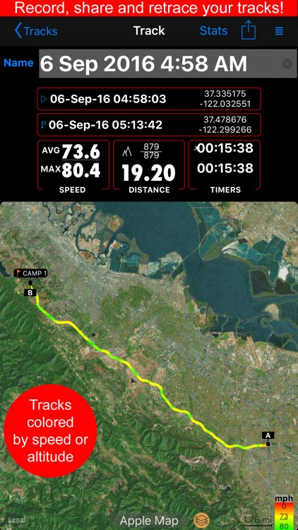Compass 55. GPS tactical nav tool kit, offline map app image