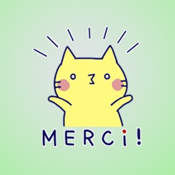 French Cat 2 Stickers