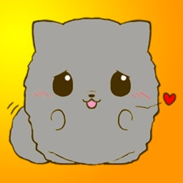 Fluffy Kitty 2 Stickers