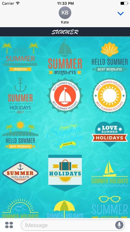 Summer - Sticker Pack for iMessage screenshot-4