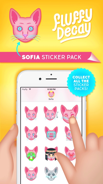 Fluffy Decay Sofia Sticker Pack