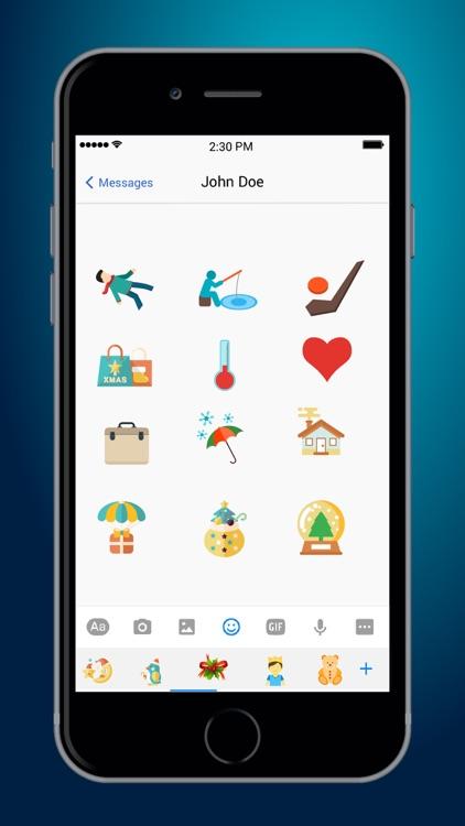 Christmas Emoji Plus screenshot-3