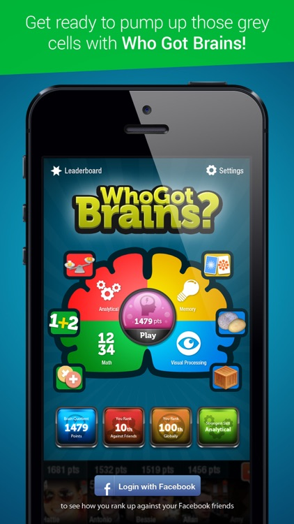 Who Got Brains - Brain Training Games screenshot-0