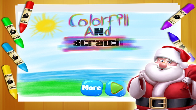Christmas Coloring Book - Scratch & Draw Kids Game