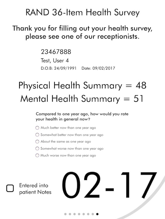 RAND SF 36 Item Health Survey screenshot-3