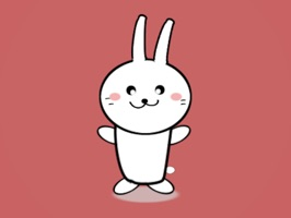 Rabbit Moving Sticker