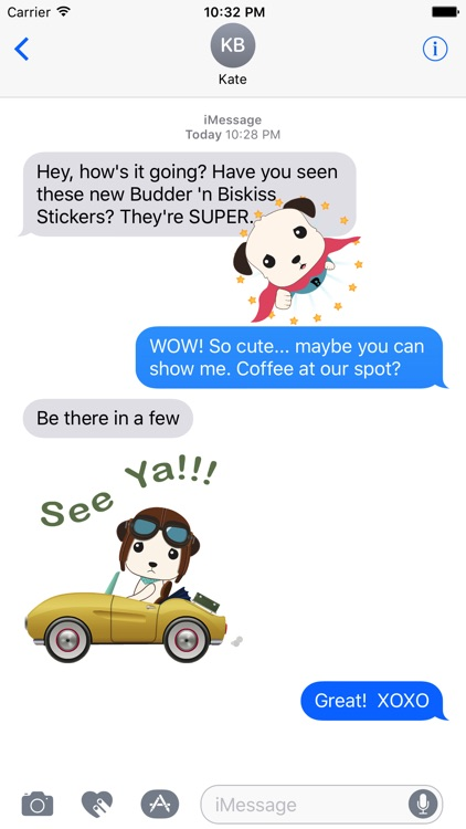 Budder 'n Biskiss® Animated Stickers