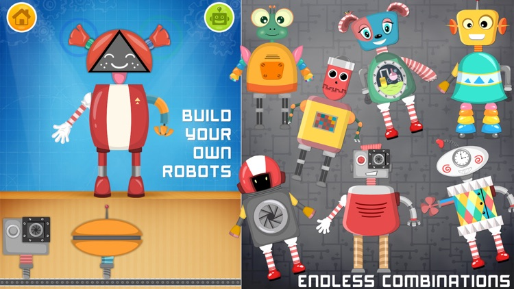 Robot game for small kids screenshot-0