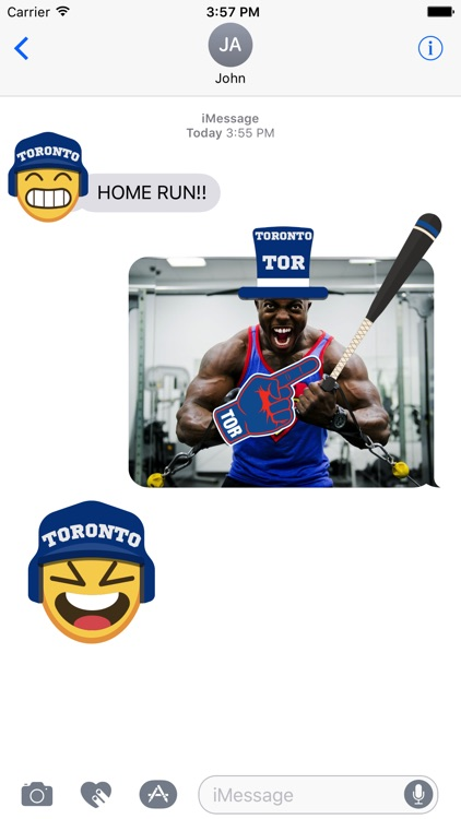 Toronto Baseball Stickers & Emojis
