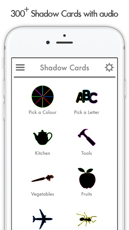 Shadow Flash Card Learning Fun