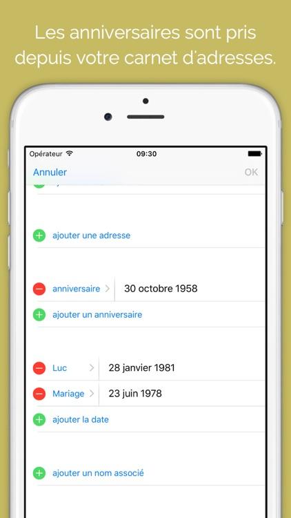 Difts - Fêtes et Anniversaires de vos contacts screenshot-4