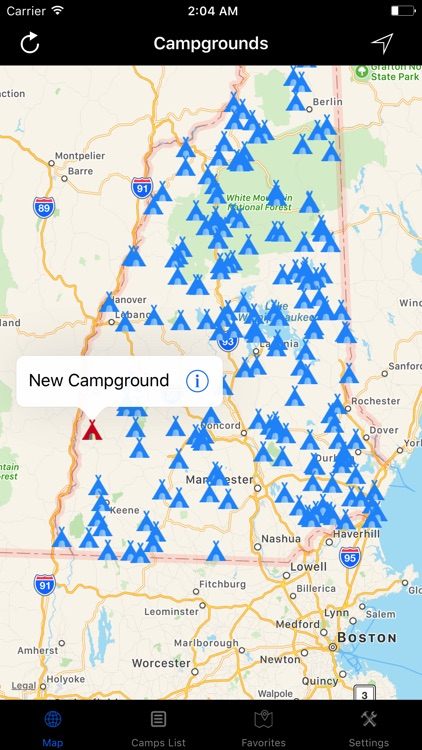 New Hampshire – Campgrounds & RV Parks screenshot-2