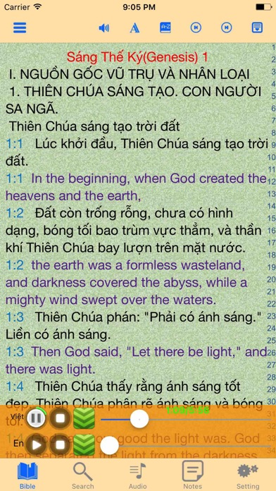 Catholic English Vietnamese Audio Bible