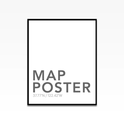Map Poster - Design& Create Beautiful Map Poster