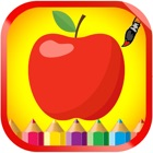 Fruits and Vegetable Coloring book For Children icon