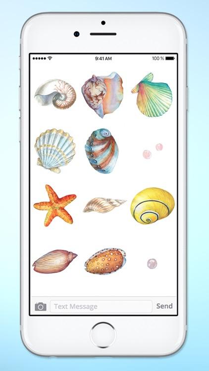 Beach Lover Sea Shells Sticker Pack screenshot-4