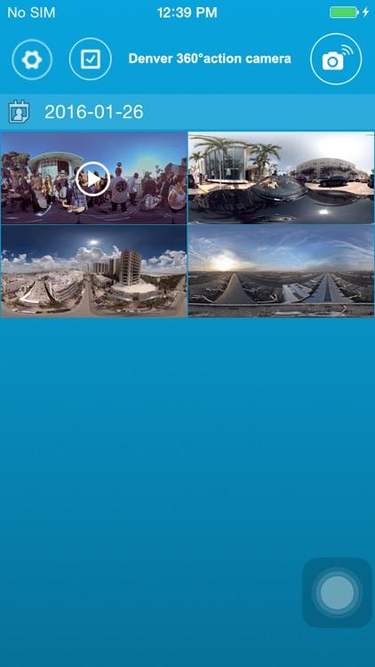 Denver 360° action camera