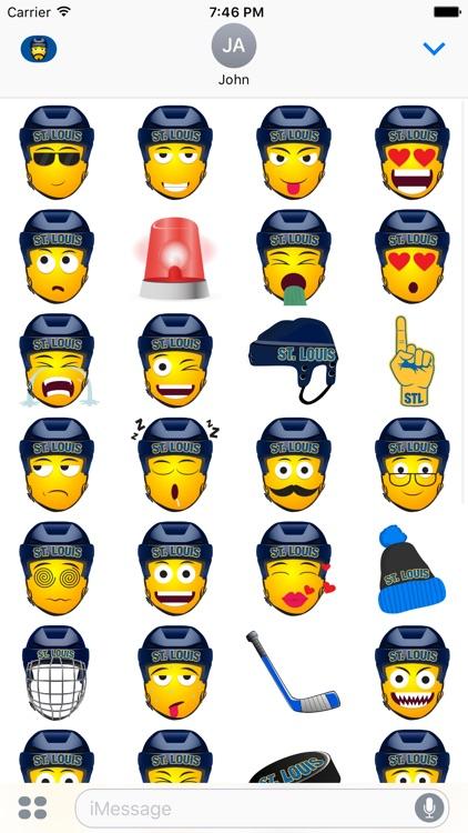St. Louis Hockey Stickers & Emojis screenshot-3