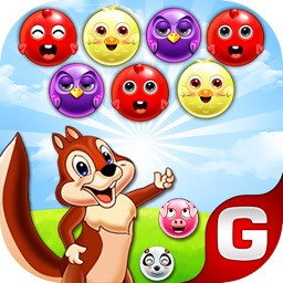 Bubble Shooter Squirrel Bird Deluxe-Pop Match 3
