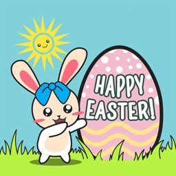 BUNNy with Easter Egg Animated Stickers