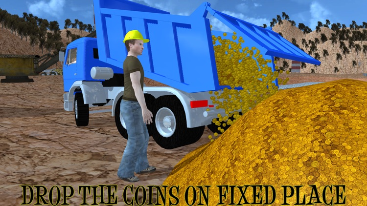 Gold Miner Real Rush Digger: Truck Drive 3D screenshot-0