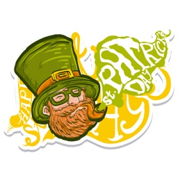 Weird Pat - St. Patrick's Day Stickers