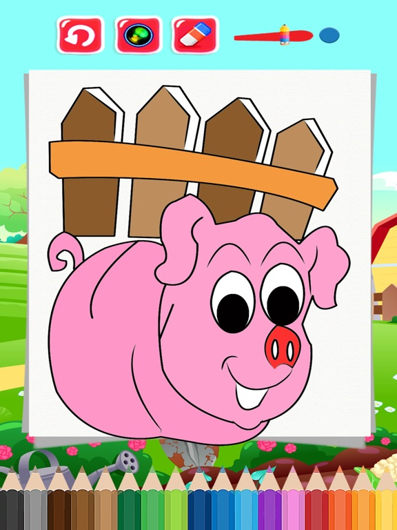 Screenshot 2 For Family Farm Papa Pig Coloring Book