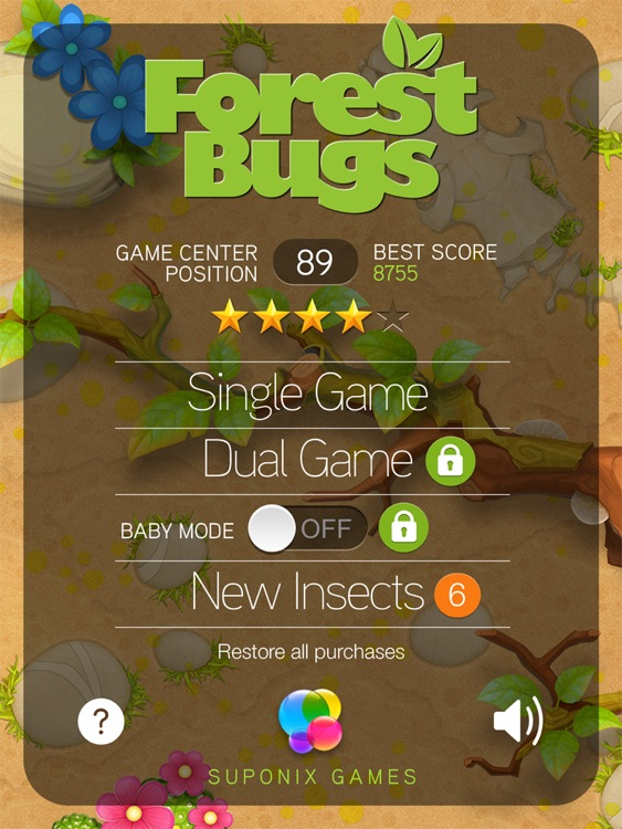 Forest Bugs - Tap Smash Game for Kids and Adults screenshot-3