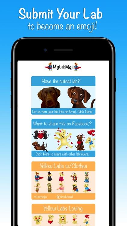 MyLabMoji - Yellow, Chocolate & Black Lab Emojis screenshot-4