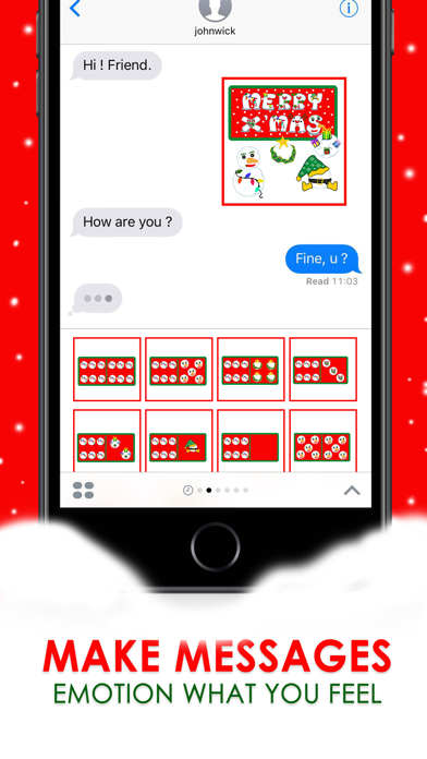 X'mas Domino Countdown Stickers for iMessage screenshot two