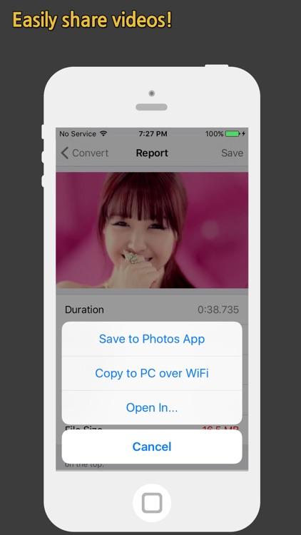 Video Diet - Compress Videos for Free Memory screenshot-3